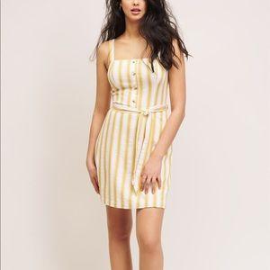 Dynamite Square Neck straps Cami Dress striped